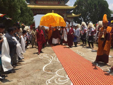 News of the activities of His Eminence the 7th Dzogchen Rinpoche